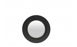 Ronde Spiegel Metaal : Lola ronde spiegel metaal zwart l Ø 60x5 cm