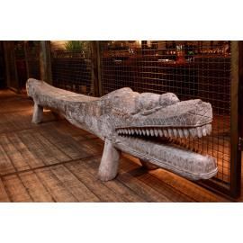 Crocodile XXL Teak Wood