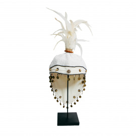 Hat Fully Beaded with Stand White