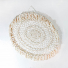 Wall Deco Mandala Macramé XL Natural