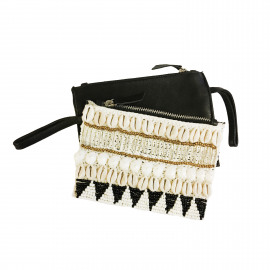 Purse Leather-Shell Black