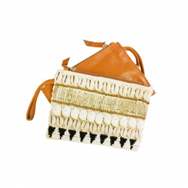 Purse Leather-Shell Brown
