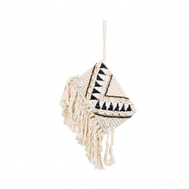 Clutch Macramé Beads-Shell Natural