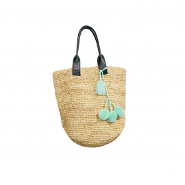 Raffia Shopper Natural Long