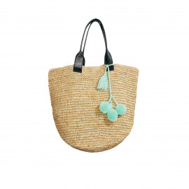 Raffia Shopper Natural Short