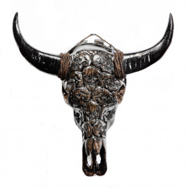 Buffalo Resin Skull Tengorak Grey