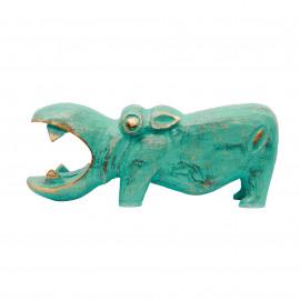 Hippo Nijlpaard Turquoise-Gold