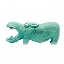 Hippo Nijlpaard Turquoise-Silver