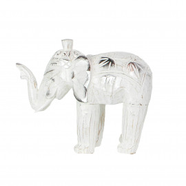 Elephant Wood White-Silver