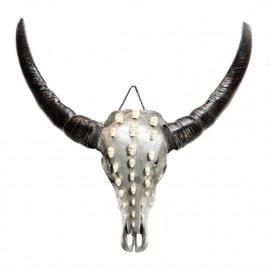 Buffalo 3D Skul Silver-White