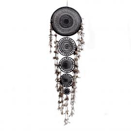 Dreamcatcher 5 Rings-Crochet-Black XL