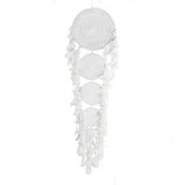 Dreamcatcher 5 Rings-Crochet-White XL