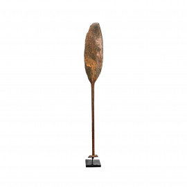 Old Paddles Erosie Iron Wood Borneo with Stand
