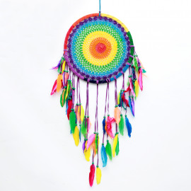 Dreamcatcher Crochet-Rainbow Ø32cm