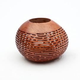 Kokosnoot theelichthouder Stripe -