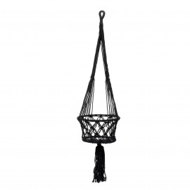 Plant Holder Macramé Black