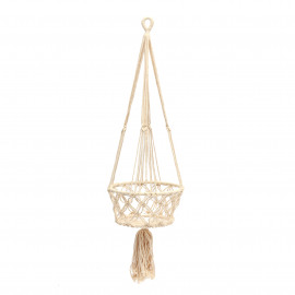 Plant Holder Macramé White