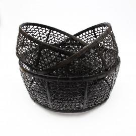 Basket Rotan Set/3 Black