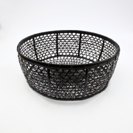 Basket Rotan Black