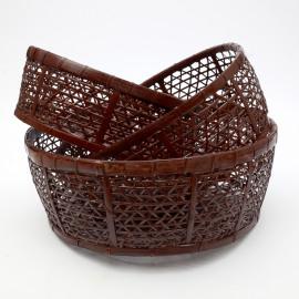 Basket Rotan Set/3 Chocolat