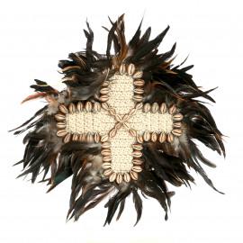 The Boho Feather Cross