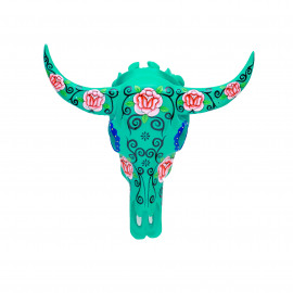 Buffalo Head Resin Flower-Aqua