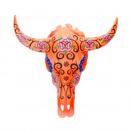 Buffalo Head Resin Flower-Fluo Orange