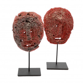 Coral Face Red on Stand