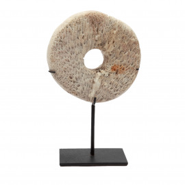 Coral Stone-Wheel White on Stand