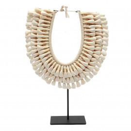 Buffalo Tooth Necklace on Stand