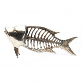 Fish Bone Brass-Silver