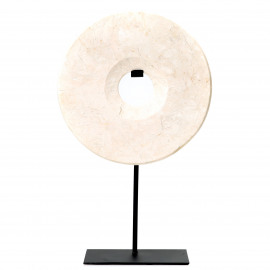 Disc Marble on Stand White