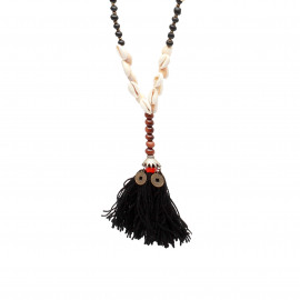 The Cowrie Tassel Necklace