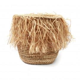 The Fringed Pot Raffia Basket