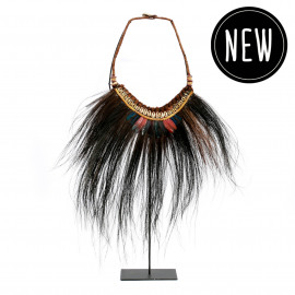 The Tribal Rooster Necklace on Stand