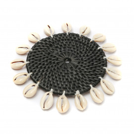 Cowrie Coaster Black