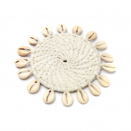 Cowrie Coaster White