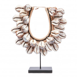 Tiger Cowrie Shell Necklace on Stand