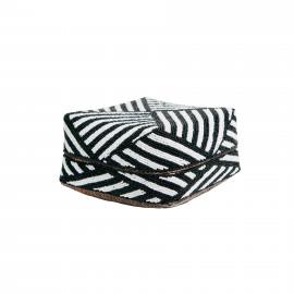 Beaded Basket Low Striped