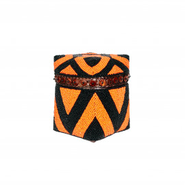 Beaded Basket High Diamond-Button