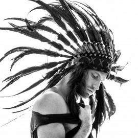 Indianen Hoofdtooi Zwart