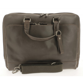 Briefcase with zipper 2 compartiments Heren Documententas
