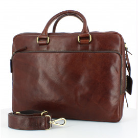 Briefcase with zipper 2 comp. Heren Documententas