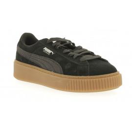 Suede Platform Animal Dames Sneaker Lowcut