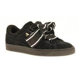 Suede Heart Satin II Wn's Dames Sneaker Lowcut