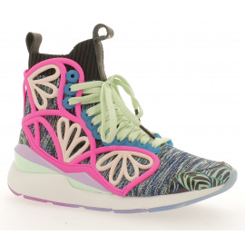 SW Pearl Cage Graphic Mid Dames Sneaker Midcut