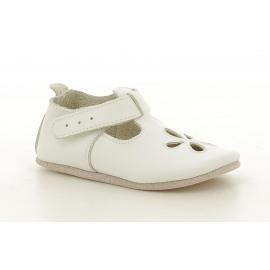 White Sandal Meisjes Ballerina Pantoffel met wreefriempje