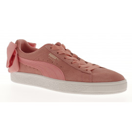 Suede Bow Satin Dames Sneaker Lowcut