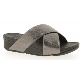 Lulu Molten Metal Slides Dames Slipper