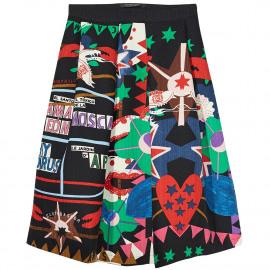 Flaring midi skirt